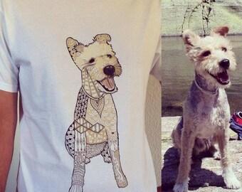 CUSTOM ZENTANGLE dog T shirt