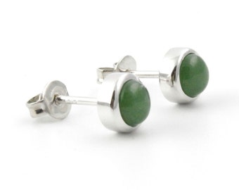 Canadian Nephrite Jade Earrings, 0761