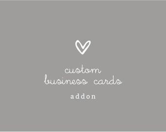 Custom Business Cards Design - Addon