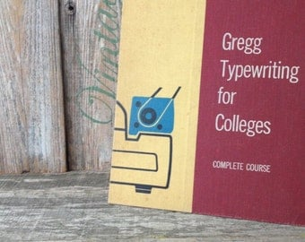 Vintage 1957 Gregg Typewriting for Colleges Complete Course Book