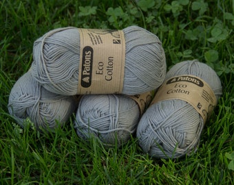 Patons Eco Cotton 4 ply - Stone