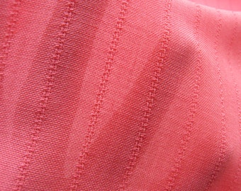 Pink Wool Gauze Fabric with Textured Pinstripe from Italy, Sheer Wool, By The Yard