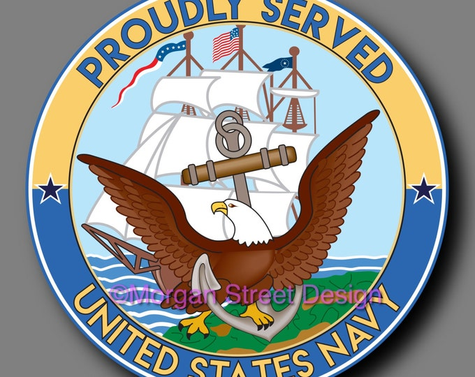 US Navy Veteran Die Cut Vinyl Decal Sticker