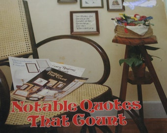 Notable Quotes That Count / Counted Cross Stitch Patterns
