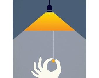 Please Turn Off The Light 40 x 50cm giclee print