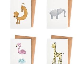 Little Animals Mini Cards