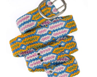 SALE S, M, L All Sizes Knotted Belts meticulously braid knotted geometric designs are fair trade from Peru