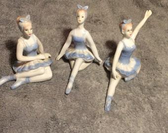 Items Similar To Vintage Pink Plastic People Figurines