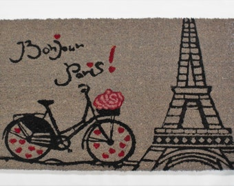 Doormat Bonjour Paris