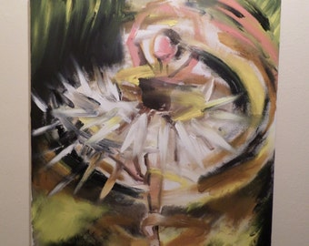 Dancing woman - Oil on canvas