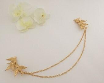 Headpiece, birdies, hair vine, whimsical headpiece, headband, bridal hair vine, back crown, bridal back crown, tiara, hair jewelry