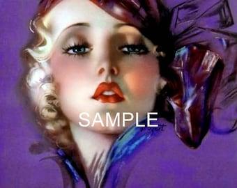 Digital Download File *Retro Lady* 10094