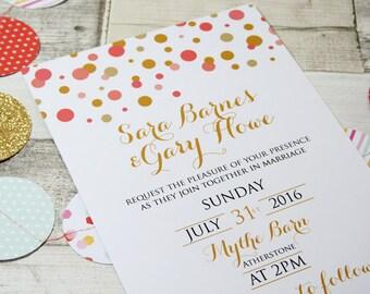 Confetti Wedding Invitations *Minimum Order of 25