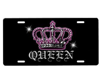 Queen License Plate