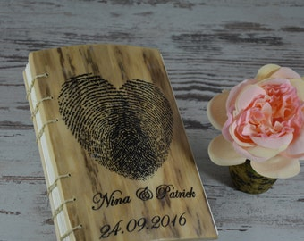 Guestbook Rustic Wedding Book , Glamor Guest Book Journal