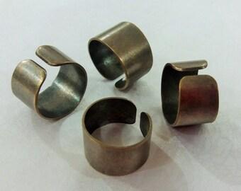 8 Pcs Antique Bronze  21 mm Adjustable Ring, 14 mm Blanks Brass Sheet Findings