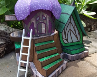 Fairy Door Straight Ladder Glittery Loose Tooth Fairy Realm Fairy Dust Christmass Elf Straight Ladder Shelf