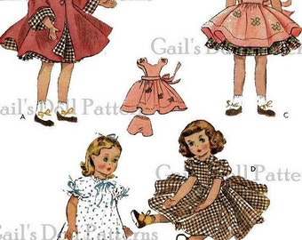 """A Vintage Copy of 1950's McCall's Pattern for 15"""" Doll Wardrobe"""