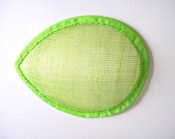 "hat base Lime teardrop 5"" (13cm) sinamay hat base teardrop fascinator base New lime green"