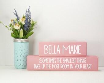 Custom Baby Name- Quote Wood Block Baby/Nursery/Kids Room Decor-Baby Gift-Shower Gift-Birthday Gift-Country Decor