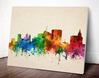 Newark Skyline Canvas Print, Newark Cityscape, Newark Art Print, Home Decor, Gift Idea, USNJNE05C