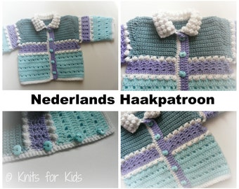 Dutch Baby Cardigan crochet pattern Snowball 0-18 MOS