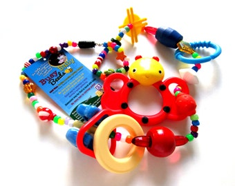 Handcrafted Breastfeeding Feeding Necklace Bottle Feeding Nursing Teething BPA Free Colorful Educational Interactive Baby Toy Pacifier 090