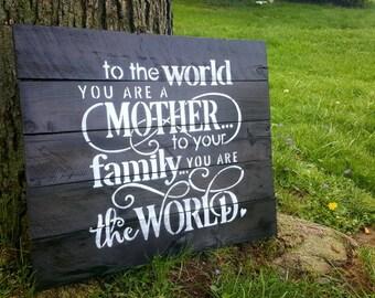 Mother Pallet Sign