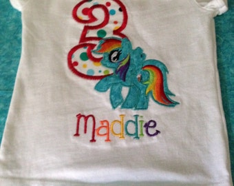 Pony Birthday shirt for child