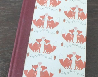 A Completely Hand Made and Hand Bound Foxy A6 Note Book/ Sketch Pad