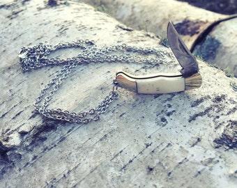Jack Knife Necklace