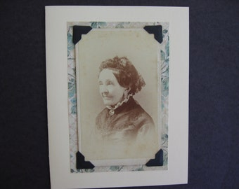 Greeting Card -  Original 19th Century Studio Portrait Photo with Quotation Any Occasion Words of Wisdom