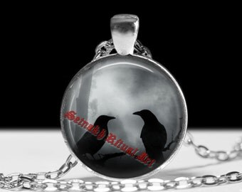 Crow pendant,  gothic necklace, raven necklace, gothic choker, dark style accessories #234