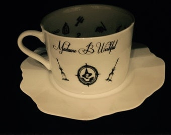 Madame B Wishful Witches Brew Fortune Telling Tea Cup for reading tea leaves.  Magical