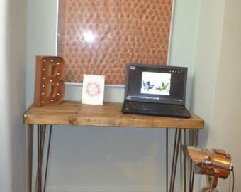 Industrial Writing Desk G plan Mid Century Modern Style hairpin Legs