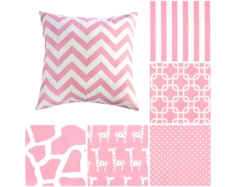 Light Pink Pillow Covers.Baby Pink Throw Pillows.Pink Toss Pillows.Pink Chevron Cushions.Baby Animals Pillow.Pink Accent Pillow