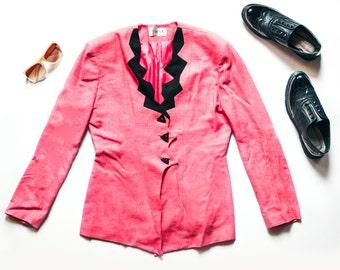 80s Pink Blazer | Vintage Blazer | Funky Blazer | Hot Pink Blazer | 80s Blazer | Pink Jacket | Vintage Jacket - Size M Medium