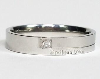Womens Ring, Custom Ring, Personalized Ring, Titanium Ring