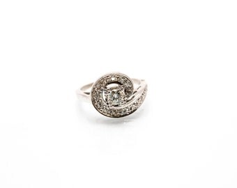 14kt White Gold Estate Diamond Ring