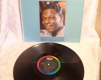 Nat King Cole Ramblin Rose Vinyl Record, When You're Smiling, The Good Times, Your Cheatin Heart, Twilight on The Trail