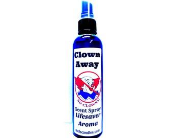 CLOWN AWAY (Lifesaver Aroma) 4oz bottle of Body Spray, Scent Spray, Room Spray