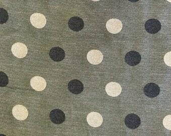 Dark Grey and White Polka Dot - Upholstery Fabric - Designer Fabric