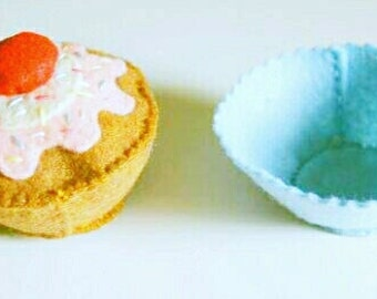 Felt Food Cupcake Pattern