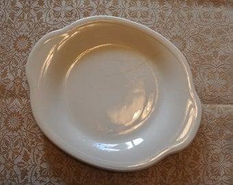 Edwin Knowles, Semi Vitreous Pure White Platter, 11 1/4 x 9 in.