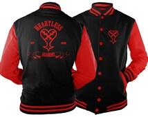 Heartless Black & Red Varsity Jacket inspired by Kingdom Hearts