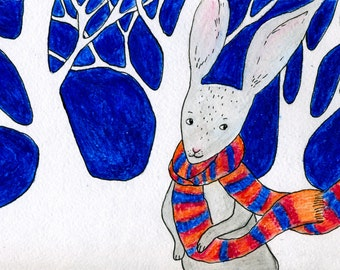 Children illustration print.