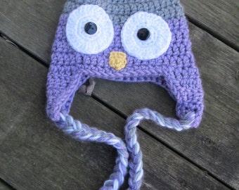 Crochet Owl Hat/ Crochet Owl/ Owl hat/ Boy Owl hat/ Girl owl hat/Crochet boy owl hat/ Crochet girl owl hat