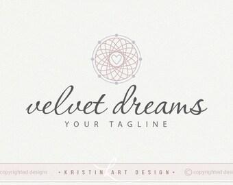 Dream catcher logo, Circle logo design, Photography, Premade logo, Circle watermark, Heart logo 483