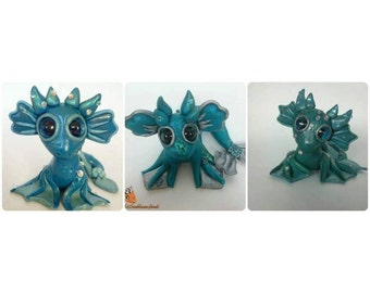Polymer Clay Water Dragon | Mergon Marine | Fantasy | MADE TO ORDER