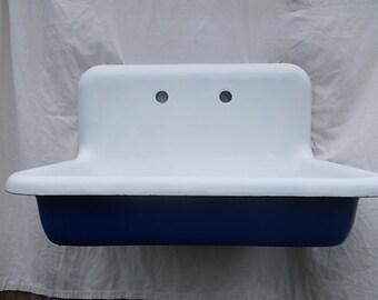 antique left hand original corner farm sink with by almasfarmhouse. Black Bedroom Furniture Sets. Home Design Ideas